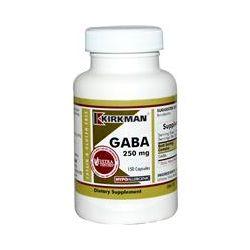 Kirkman Labs, GABA, 250 mg, 150 Capsules