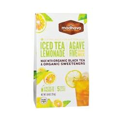 Madhava Natural Sweeteners, Agave Five Drink Mix, Iced Tea Lemonade, 6 Packets, 1.04 oz (29.4 g)