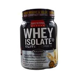 Muscletech, Six Star Pro Nutrition, Whey Isolate+Plus, Elite Series,French Vanilla Cream, 1.50 lbs (680 g)