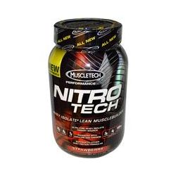 Muscletech, Nitro-Tech, Performance Series, Whey Isolate+ Lean Musclebuilder,Strawberry, 2 lbs (907 g)