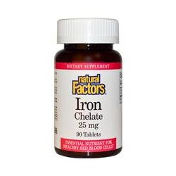 Natural Factors, Iron Chelate, 25 mg, 90 Tablets
