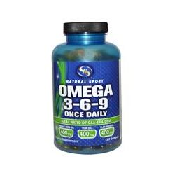 Natural Sport, Omega 3-6-9 Once Daily, 120 Softgels