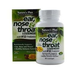 Nature's Plus, Adult's Ear, Nose & Throat Lozenges, Tropical Cherry Berry, 60 Lozenges