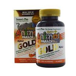 Nature's Plus, Source of Life, Animal Parade Gold, Children's Chewable Multi-Vitamin & Mineral Supplement, Natural Orange Flavor, 120 Animals