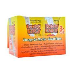 Nature's Plus, Potent·C Energy, Natural Orange Flavor, 30 Packets, 0.2 oz (5.8 g) Each