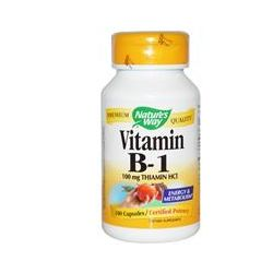 Nature's Way, Vitamin B-1, 100 mg Thiamin HCl, 100 Capsules