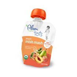 Plum Organics, Tots, Organic Fruit Snack, Peach Mish Mash, 3.17 oz (90 g)