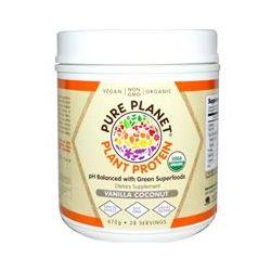 Pure Planet, Organic, Plant Protein, Vanilla Coconut, 672 g