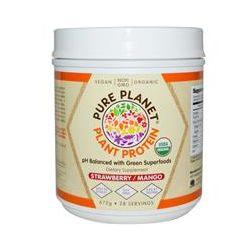 Pure Planet, Organic, Plant Protein, Strawberry Mango, 672 g