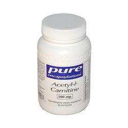 Pure Encapsulations, Acetyl-l-Carnitine, 500 mg, 60 Veggie Caps