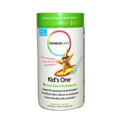 Rainbow Light, Kid's One, Food-Based Multivitamin, Fruit Punch, 90 Tablets