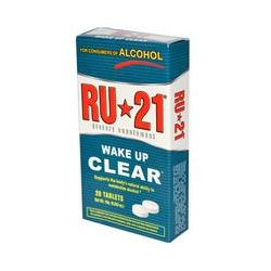 Ru-21, Consumers of Alcohol, Wake Up Clear, 20 Tablets