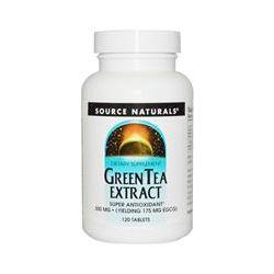 Source Naturals, Green Tea Extract, 500 mg, 120 Tablets