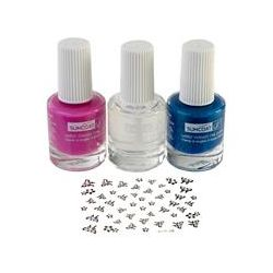 Suncoat Girl, Natural Nail Beauty Kit, Water-Based Nail Polishes, Mermaid Princess, 3 Piece Kit