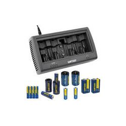 Watson Universal 8-Bay Charger Kit with AAA, AA and 9V NM-U8CK