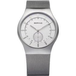 Bering Time Herren-Armbanduhr XL Radio Controlled Analog Quarz Edelstahl 51940-000