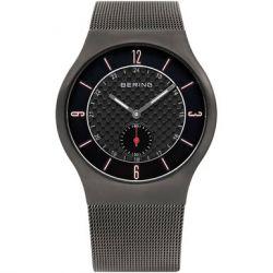 Bering Time Herren-Armbanduhr XL Analog Quarz Edelstahl 11940-377