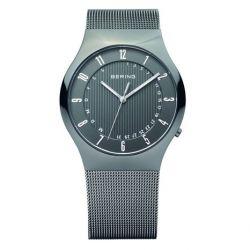 Bering Time Herren-Armbanduhr XL Radio Controlled Analog Quarz Edelstahl 51840-077