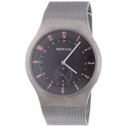 Bering Time Herren-Armbanduhr XL Radio Controlled Analog Quarz Edelstahl 51940-377