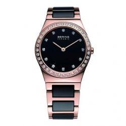 Bering Time Damen-Armbanduhr XS Ceramic Analog Quarz verschiedene Materialien 32430-746