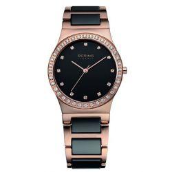 Bering Time Damen-Armbanduhr XS Ceramic Analog Quarz verschiedene Materialien 32435-746