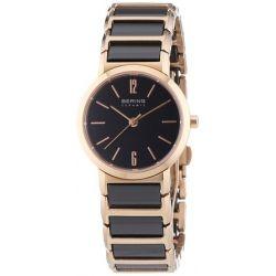 Bering Time Damen-Armbanduhr XS Ceramic Analog Quarz verschiedene Materialien 30226-746