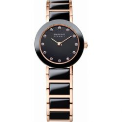 Bering Time Damen-Armbanduhr XS Ceramic Analog Quarz verschiedene Materialien 11422-746