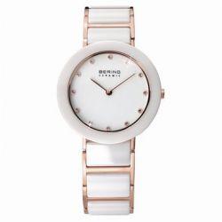 Bering Time Damen-Armbanduhr XS Analog Quarz verschiedene Materialien 11429-766