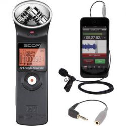 Zoom H1 Ultra-Portable Recorder and Rode smartLav+ Kit B&H Photo