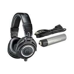 Audio-Technica ATH-M50x Monitor Headphones and Portable DAC Kit