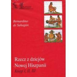 Rzecz z dziejów Nowej Hiszpanii Księgi 1, 2, 3 - Bernardino de Sahagun