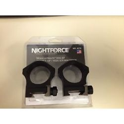 "Nightforce Ultralite 34mm High 6 Screw Ring Set 1 125"" Height"