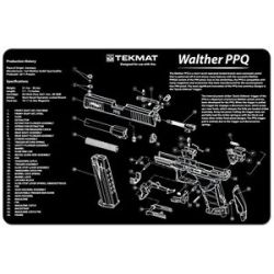 Tekmat Gun Cleaning Mat Walther PPQ Exploded Diagram 17 Wal PPQ