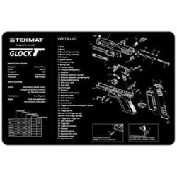 Tekmat Glock Diagram Gun Cleaning Mat Black 17 Glock