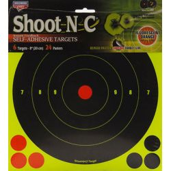 Birchwood Casey Shoot N C 8 inch Bull's Eye Targets w Pasters 6 Pack 34805
