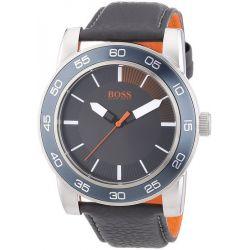 Boss Orange Herren-Armbanduhr XL Kick Off Analog Quarz Leder 1512862