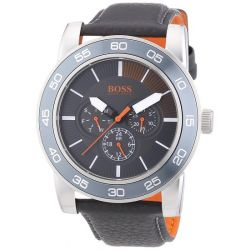 Boss Orange Herren-Armbanduhr XL Kick Off Analog Quarz Leder 1512863