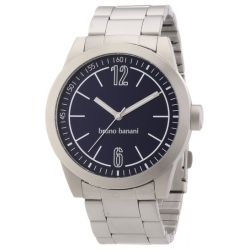 Bruno Banani Herren-Armbanduhr XL TARAS GENTS Analog Quarz Edelstahl BR21114