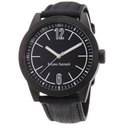 Bruno Banani Herren-Armbanduhr XL TARAS GENTS Analog Quarz Leder BR21111