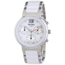 Bruno Söhnle Damen-Armbanduhr XS Algebra IV Chronograph Quarz Edelstahl 17-93134-952