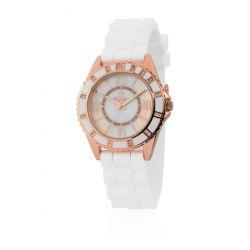 Burgmeister Damen-Armbanduhr Analog Quarz Silikon BM528-386