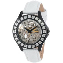 Burgmeister Damen-Armbanduhr Merida Analog Automatik Leder BM520-606