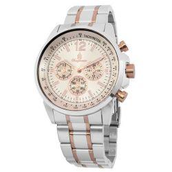 Burgmeister Herren-Armbanduhr XL Analog Quarz Edelstahl beschichtet BM608-967