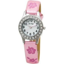 Cactus Mädchen-Armbanduhr Analog pink CAC-34-L05