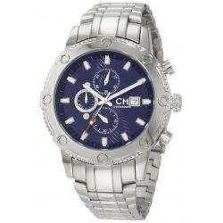Carlo Monti Herren-Armbanduhr Stahl/blau/Stahl CM100-131