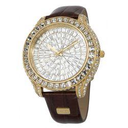 Carlo Monti Damen-Armbanduhr XL Casoria Analog Quarz Leder CMY02-275
