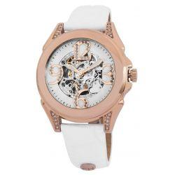 Carlo Monti Damen-Armbanduhr Analog Automatik Leder CM801-386