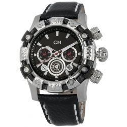 Carlo Monti Herren-Armbanduhr XL Arezzo Chronograph Quarz Leder CM122-122