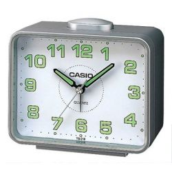 Casio - TQ-218-8EF - Alarm Clock - Quarzuhrwerk - Analogue - Alarm - Bracelet Edelstahlband silber