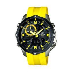 Casio Herren-Armbanduhr XL Edifice Analog - Digital Quarz Edelstahl EMA-100B-1A9VUEF